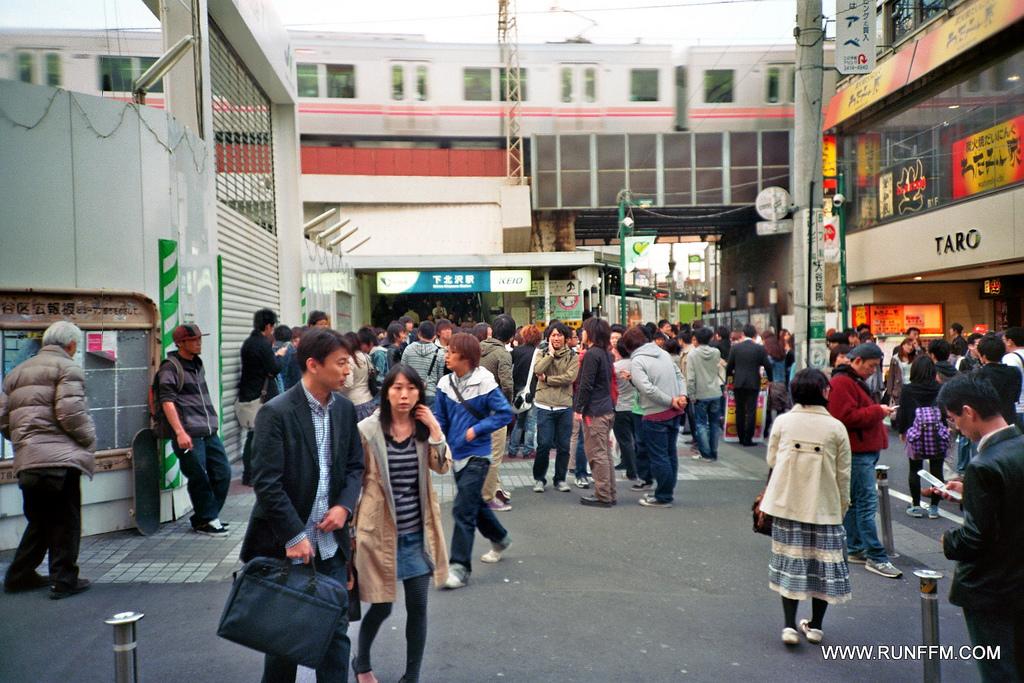 A shot at Shimokitazawa station